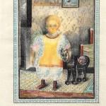 水彩・子供1923