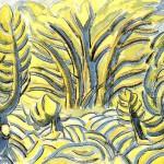 水彩・木のリズム1936