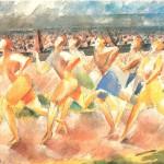 水彩・競争1935