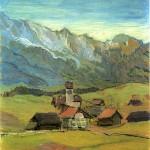 油絵・山村1910