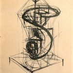 素描・炎の塔の習作1919