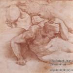 4-Zwei-Figur-rot-chalk-Renaissance-Michelangelo