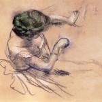 Degas Dancer, Study for L'Attente (1882) private
