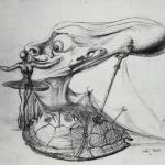 Drawing for Disney's 'Destino', circa 1946-47
