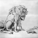 Eugène_Delacroix_-_Lion_and_Tortoise_-_Walters_371220