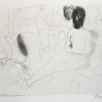 Nu-Assis-Entoure-dEsquisses-de-Betes-et-dHommes-from-Le-Chef-dOeuvre-Inconnu-by-Balzac-by-Pablo-Picasso