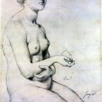 graphic 6 Study of Seated Female Nude. c. 1830