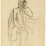 pablo-picasso-drawings-man-in-a-bowler-hat-1914-moma-new-york