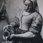 vermeers-milkmaid-in-charcoal-art-nomad-sandra-hansen