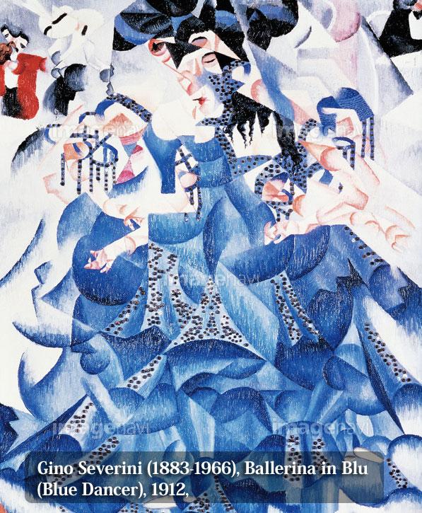 Gino-Severini-(1883-1966),-Ballerina-in-Blu-(Blue-Dancer),-1912,