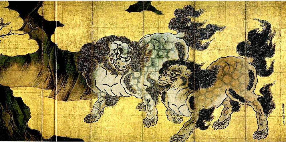 唐獅子図狩野永徳