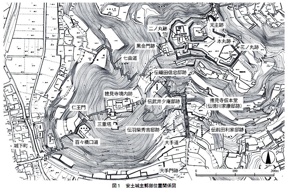 安土城城郭平面図